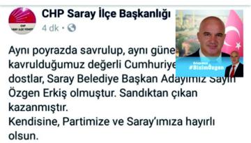 Saray CHP Özgen Erkiş'i Resmen Açıkladı