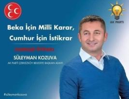 Çerkezköy Belediye Başkan Adayı Süleyman Kozuva