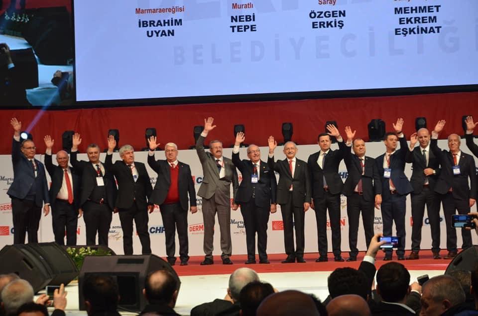 Chp Tekirdağ Belediye Başkan Adaylarını Tanıttı