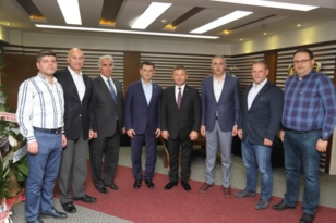 ÇTSO Başkanı Kozuva'dan Mustafa Cetın'e Hayırlı Olsun Ziyareti