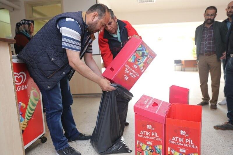 Kapaklı Okullarında 1141 kg Atık Pil Toplandı
