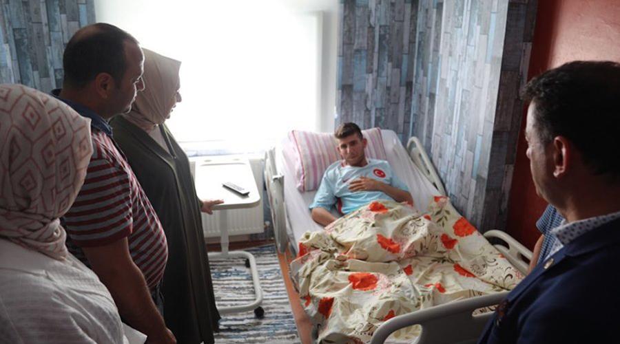 Milletvekili Çiğdem Koncagül'den gazi Tarık Cür'e ziyaret