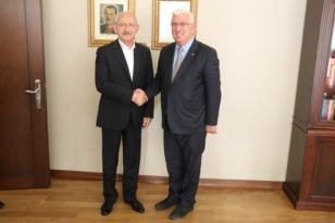 Ergene Belediye Başkanı Rasim Yüksel ve Ergene Velimeşespor CHP Genel Başkanı Kemal Kılıçdaroğlunu Ziyaret Etti