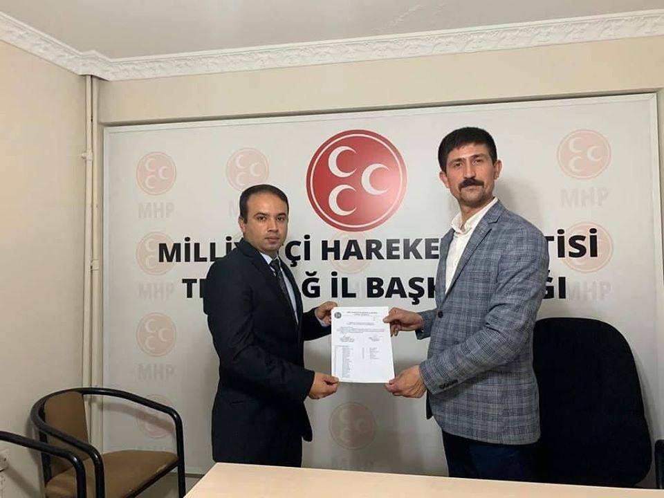 Çağlar Bütün Kapaklı MHP İlçe Başkanı Olarak Atandı