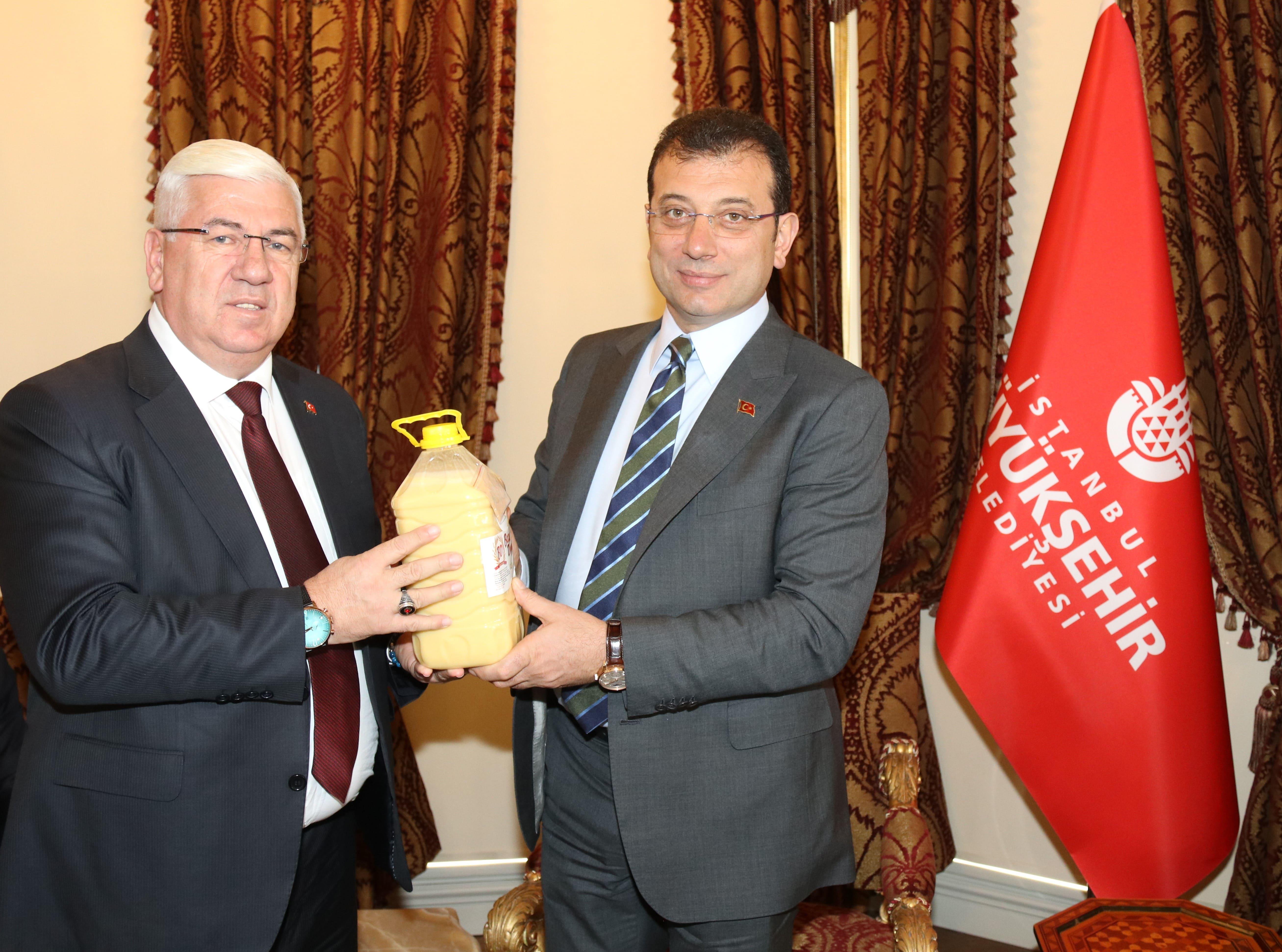 Başkan Yüksel İstanbul Büyükşehir Belediye Başkanı Ekrem İmamoğlu'nu Ziyaret Etti