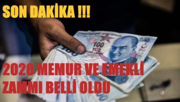 2020 MEMUR VE EMEKLİ ZAMMI BELLİ OLDU !!!