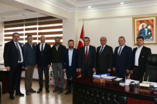 ÇERKEZKÖY TSO'DAN KAYMAKAM ABBAN'A TEBRİK ZİYARET