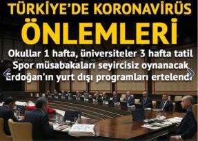 Son dakika: Beştepe'deki koronavirüs toplantısı sona erdi