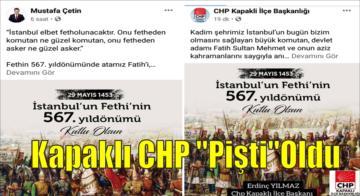 Kapaklı CHP Pişti Oldu